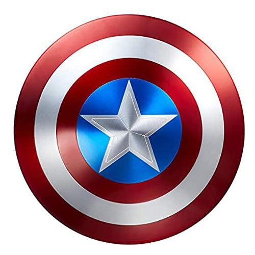 Avengers Réplica de Marvel Escudo Capitan America 60Cm Edición 75 Aniversario,1:1 Accesorios de Disfraces Retro de Halloween Para Adultos Accesorios Bar Escudo Decoraciones Para Colg