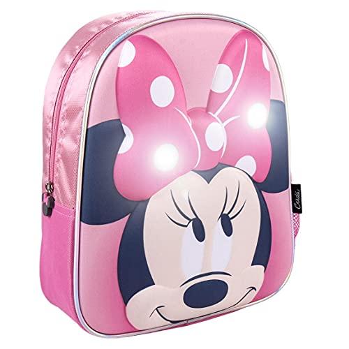 CERDÁ LIFE'S LITTLE MOMENTS, Mochila Luces LED Escolar de Minnie Mouse-Licencia...