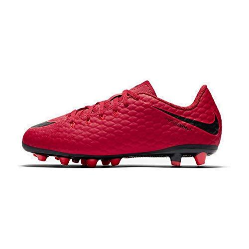 Nike JR Hypervenom Phelon III FG - Zapatillas deportivas, color rojo y negro, 28