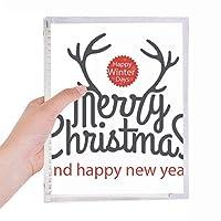 クリスマスのヘラジカの新年の冬のフェスティバル 硬質プラスチックルーズリーフノートノート