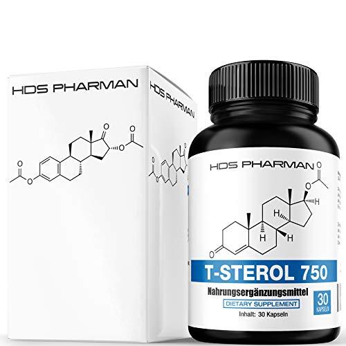 Energie Komplex T-Sterol 750 – Maca, Tribulus, Pflanzensterol, L-Arginin, Zink – Hochdosiert – Made in Germany