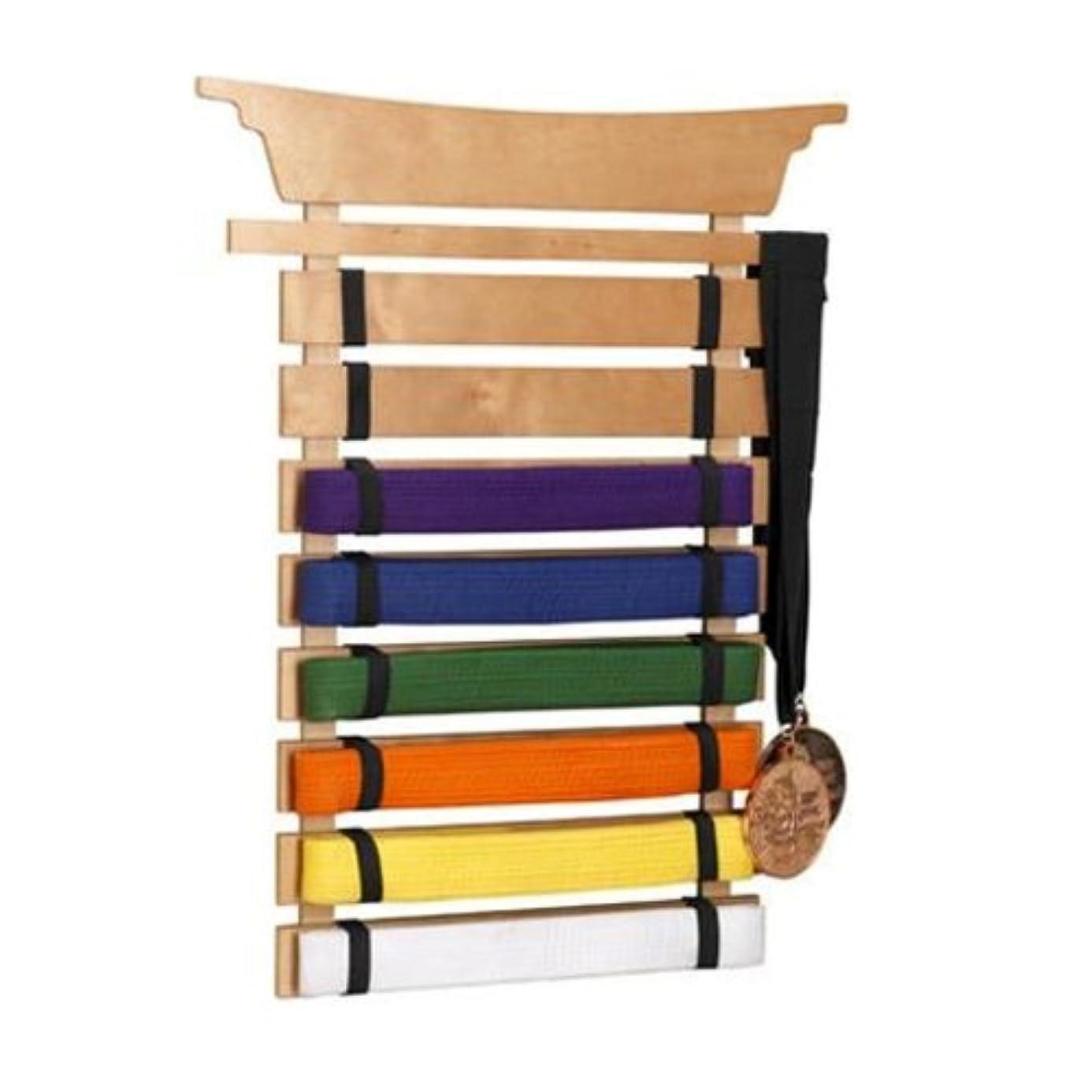 KidKraft Martial Arts Wooden Belt Holder Hanging Display for 8 Belts  (Unpersonalized)