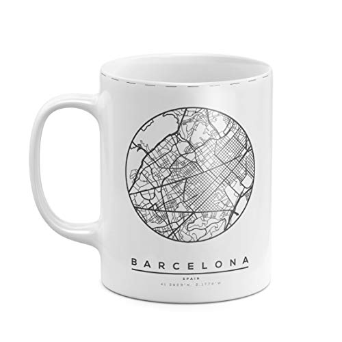 Taza de Té o Café de 312 ml, Cerámica Blanca Resistente al...