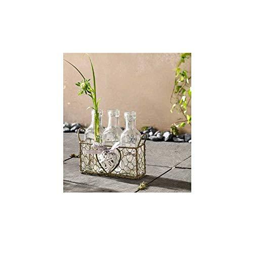 bb10 Schmuck Vasenkörbchen Romance Vase in Flaschenform 4 teilig Tischdekoration Gartendekoration