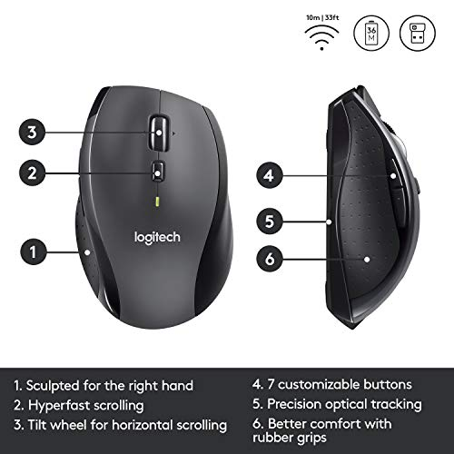 MOUSE WIRELESS M705 SILVER