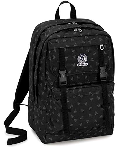 Invicta Zaino Duffy Triangle Kinder-Rucksack 45 centimeters 30 Schwarz (Nero)
