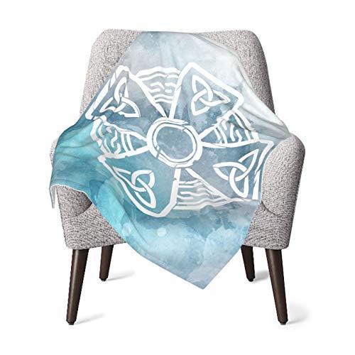 Celtic Cross Knot Irish Soft Baby Plush Blankets Children's Mat for Cribs, Strollers, Travel Black