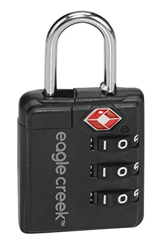 Eagle Creek Zahlenschloss mit Dreierkombination Ultralight TSA Lock Gepäckschloss, 6 cm, Graphite