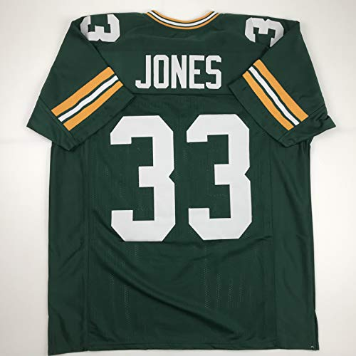 Unsigned Aaron Jones Green Bay Green Custom Stitched Football Jersey Size Men's XL New No Brands/Logos