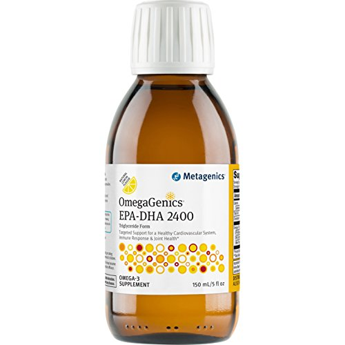 Metagenics OmegaGenics® EPA-DHA 2400 – Liquid Omega-3 Oil – Daily Supplement to Support Cardiovascular, Musculoskeletal, & Immune System Health | 150 mL