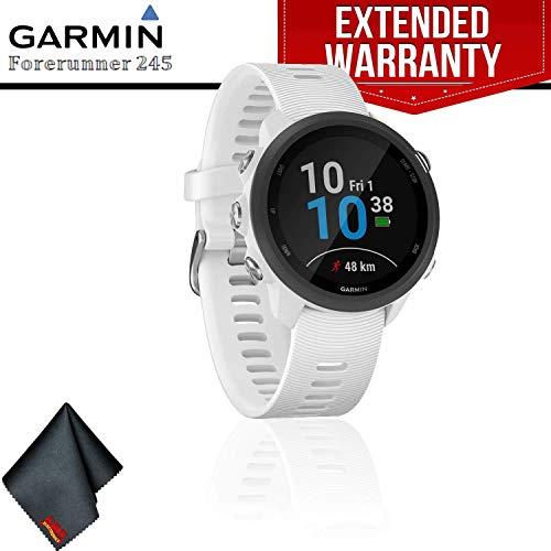 Best Deals! Garmin Forerunner 245 Music GPS Running Smartwatch (White) + Extended Warranty + Cleanin...