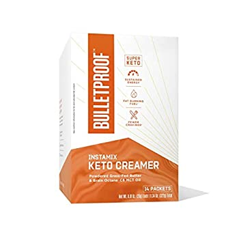 Bulletproof Keto Coffee Creamer InstaMix 14 Pack MCT oil Powder with Grass-Fed Butter for Sustained Energy