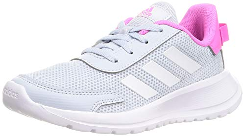 adidas TENSAUR Run K, Scarpe da Corsa, Halo Blue/Ftwr White/Screaming Pink, 38 2/3 EU
