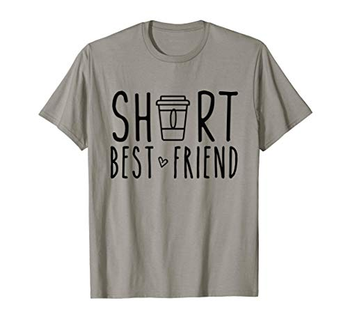 Short Best Friend Funny Coffee Matching BFF Outfit 2 Bestie T-Shirt