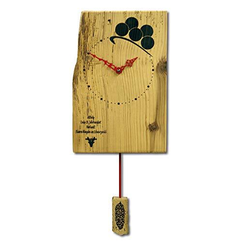 Uhren Manufaktur Schwarzwald Reloj de pared de madera antigua fabricado en Alemania...