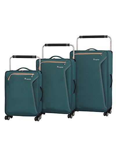 it luggage World's Lightest Accent 8 Wheel 3 Piece Set, Mediterranean Green