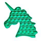 RUIZHUO Pop It Fidget Toy Push Pop Bubble Fidget Juguete sensorial Anti estrés Autismo Necesidades Especiales Squeeze sensorial Unicornio Juguetes de Silicona Regalos para niños y Adultos (Verde)