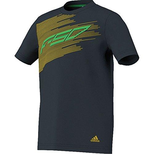 adidas Kinder T-Shirt F50 Graphic, Schwarz/Gelb/Grün, 152, Z31604