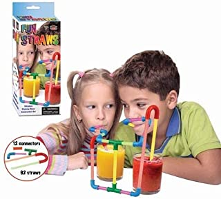 Build Your Own Straw Kit - Fun Drinking Straw, Kids Toy - Construct A Crazy Way To Drink Your Favorite Beverage