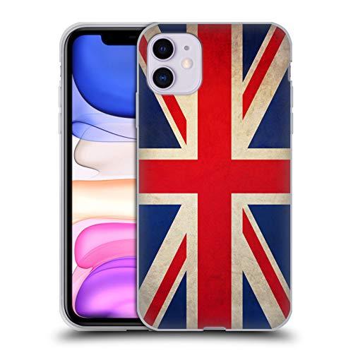 Head Case Designs Británicos De Gran Bretaña Banderas Vintage Carcasa de Gel de Silicona Compatible con Apple iPhone 11