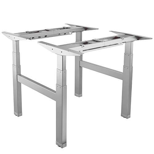 Maclean MC-794 2-Fach Tischgestell Elektrisch Höhenverstellbarer Arbeitstisch Schreibtisch Ohne Tischplatte (2-Fach (Doppelt))