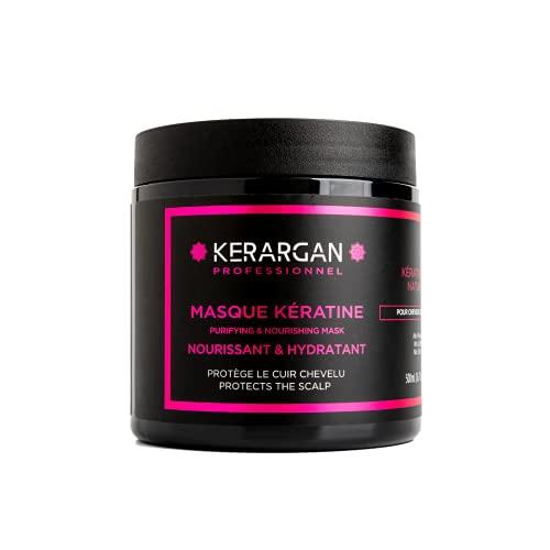 Kerargan - Masque à la kératine et à l'huile d'Argan soin capillaire réparateur,...
