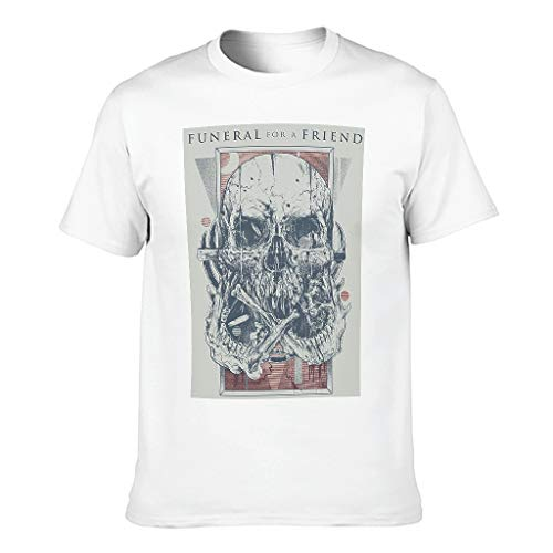 Herren Schreckensschädel T-Shirt Baumwolle Oberbekleidung - Begräbnis für einen Freund Runder Kragen White 3XL