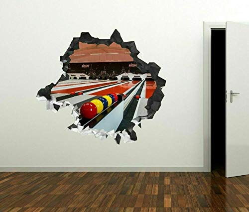 Bolas de bolos rojo amarillo calcomanías de pared personalizadas arte de calcomanías de pared 3D
