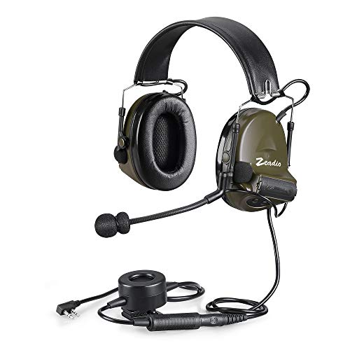 Headset, mit automatischer Geräuschunterdrückung, runde Hörmuscheln, mit PTT, 2 Pin Kenwood Baofeng Puxing Quansheng Weierweii WoUXUN HYT Radio usw.