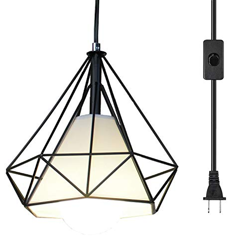 Ganeed Pendant Light,Plug in Hanging Lamps,Industrial Vintage Mini Wire Kitchen Chandeliers Fixtures...