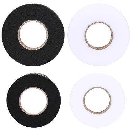MIZOMOR 4 Rollen Saumband zum aufbügeln Bügelband Klebeband Aufbügelbar Stoff Fusing Tape Fixierband Nahtband für Kleidung Textilien DIY Stoffschmelzung Selbstklebendes Nähzubehör 10/15mm