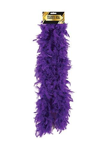 Islander Fashions Womens di alta qualit� Boa di piume Hen Night Party Wear Accessori Ladies Fancy Burlesque Sciarpa viola 150 Cm