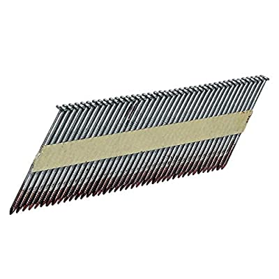 """Freeman FR.113-34-238BRS 34 Degree .113"""" x 2-3/8"""" Paper Collated Brite Finish Ring Shank Clipped Head Framing Nails (2000 count) by Prime Global Products"""