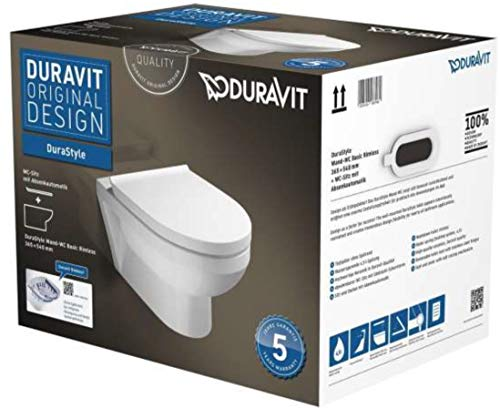 Duravit Wand-WC DuraStyle basic Tiefspüler, rimless Combipack