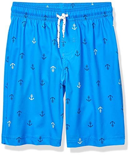 Amazon Essentials - Bañador para niño, azul (Blue Anchors), US S (EU 116 CM)