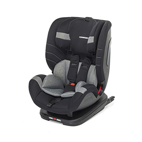 Foppapedretti Seggiolino Auto Flash Gruppo 1,2,3 (9-36 Kg) per bambini da 9 Mesi a 12 Anni circa, Carbon, Collezione 2021