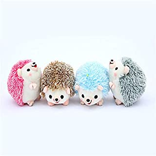 13cm Plush Hedgehog Toy Keychain Chain Pendant Animal Toy Girl Toy Not afraid of squeezing (Color : Radom Color, Size : 13CM)