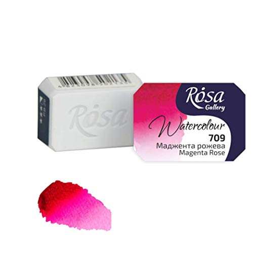 Rosa Gallery Extra fine Watercolor, Single full pan 2.5ml each (Magenta Rose)
