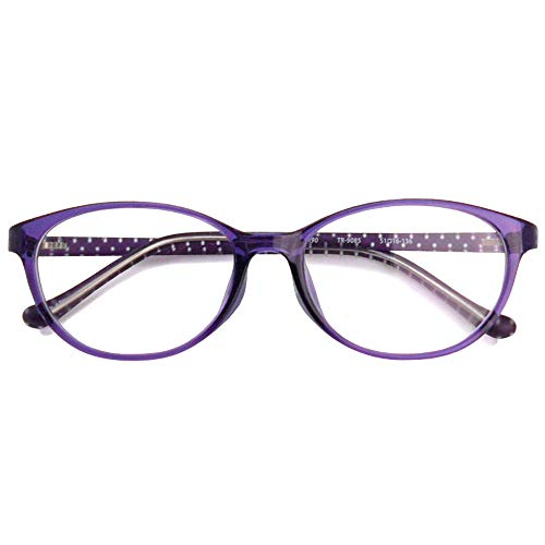 SHOWA 遠近両用メガネ TRクリアドット (ラベンダー) (レディースセット) 全額返金保証 境目のない 遠近両用 眼鏡 老眼鏡 おしゃれ レディース 女性 リーディンググラス (瞳孔間距離:66mm〜68mm, 近くを見る度数:+3.0)