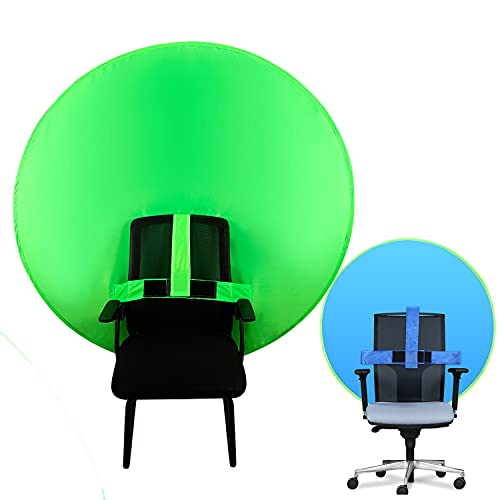 New Chair Green Screen for Chair Attachment 2-in-1 Green Screen and Blue Screen Zoom 142cm 55.9 inches Backdrop Chroma Key Sheet for Video Recording Streaming Virtual Background