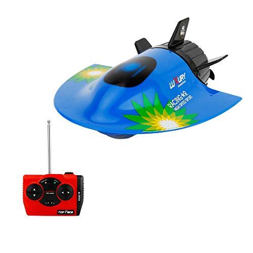 Goolsky RC Barco Mini Submarino Juguetes Barco RC Juguete Control Remoto Buceo a Prueba de Agua niños Niños (Azul)