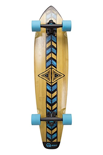 "Quest ""Totem Longboard Skateboard, 36"", Natural"