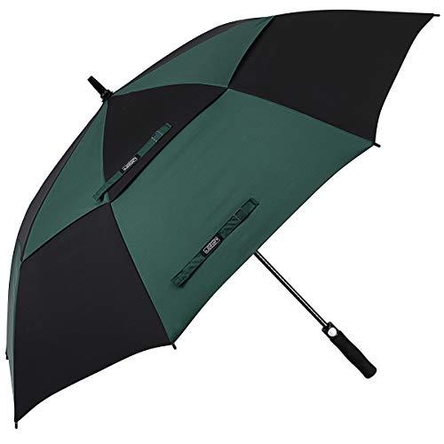 G4Free 54 62 68 Pulgadas Paraguas de Golf Abierto Automático Extra Grande de Gran Tamaño Doble Toldo Venteado Impermeable A Prueba de Viento Palo Paraguas