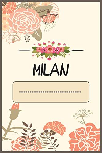 Milan Journal: Personalized name journal for Women/Girls, personalized Journal for Milan, Milan's Personal Writing Journal, Lined 110 Pages For Writing And Note Taking