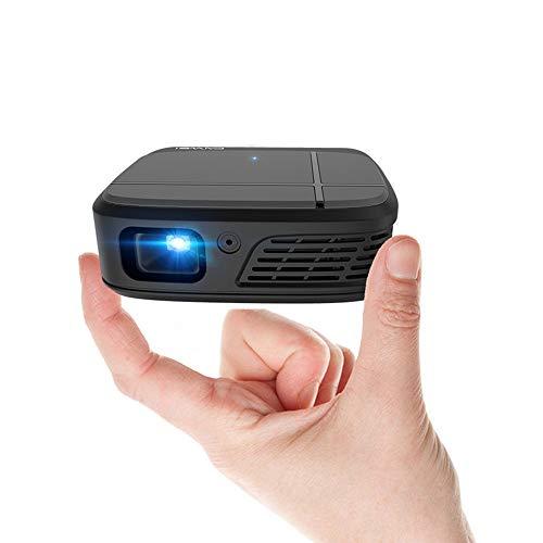 プロジェクター 小型3600ルーメンWiFiワイヤレス ポータブル ホーム プロジェクター スマートフォンと同じ画面にミラーリングでき 1080PフルHD  DLPプロジェクター 内蔵充電式 バッテリー 自動台形補正 DVD  タブレットPC   PS4   PS3などに互換[3年間保証]