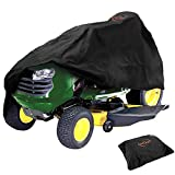 HOMEYA Riding Lawn Mower Cover Waterproof 420D Oxford Tractor Cover UV Water Resistant Protector Universal Fits Decks up to 54' with Elastic Drawstring Storage Bag