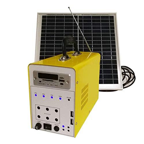 MIEMIE Generador Solar portátil con Panel Solar, Sistema de iluminación Exterior de...