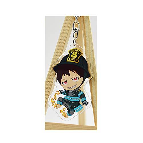 futurecos Fire Force Cute Key Chain Anime Keychain for Shinra Kusakabe Keyrings