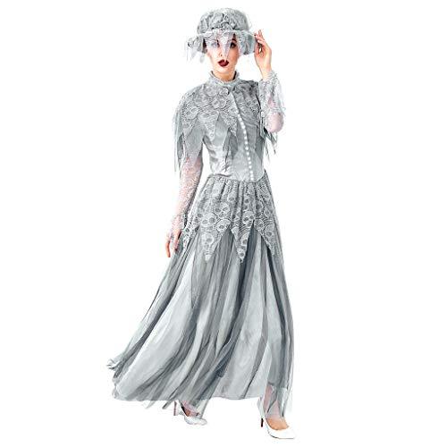 Amyline Vestido Mujer Halloween,Moda Mujer Halloween Cosplay Estilo Vintage Fantasma Novia Vestido...