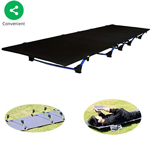 Tough Outdoors Camping Cot,Folding Military Army Camp Bed for Adults Portable &...